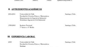 modelo de curriculum vitae simple peru - Modelo De Resume