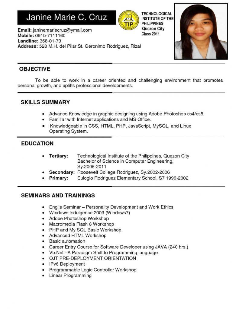 Curriculum Vitae Download Windows 7 Modelo De Curriculum