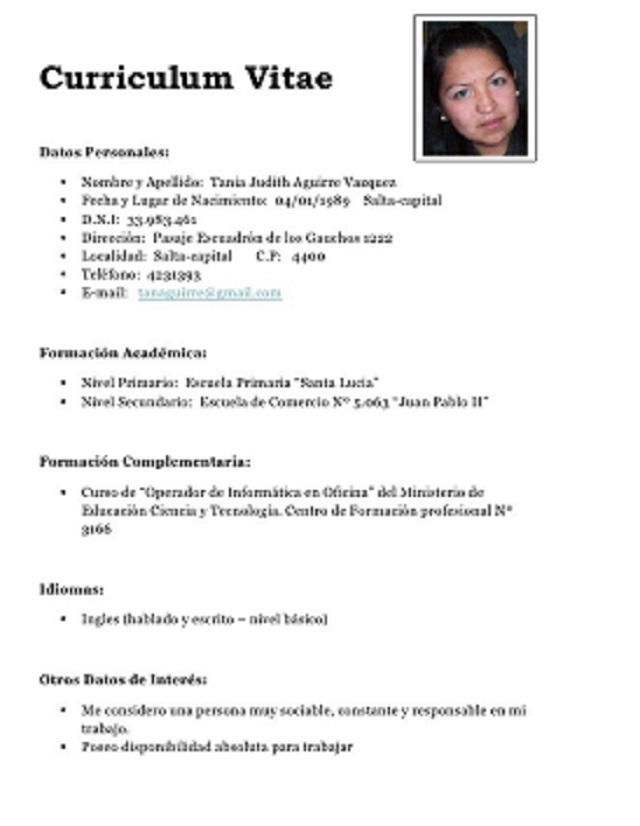 curriculum vitae marketing
